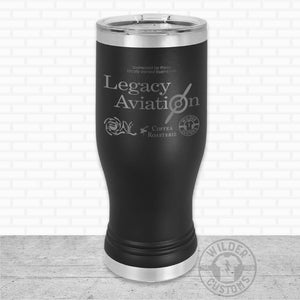Sioux Falls Strong Pilsner Tumbler Black- Legacy Aviation