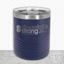 Load image into Gallery viewer, Sioux Falls Strong Lowball Tumbler- Navy NuAge