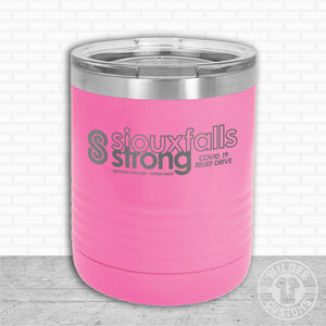 Sioux Falls Strong Lowball Tumbler Pink- Tim Allex Realty