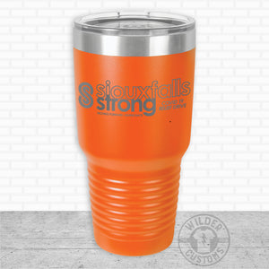 Sioux Falls Strong Bigmouth Tumbler- Orange NuAge