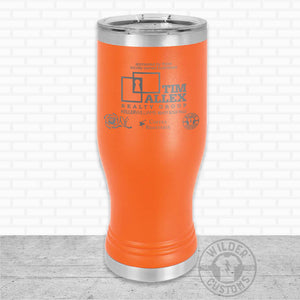 Sioux Falls Strong Pilsner Tumbler Orange- Tim Allex Realty