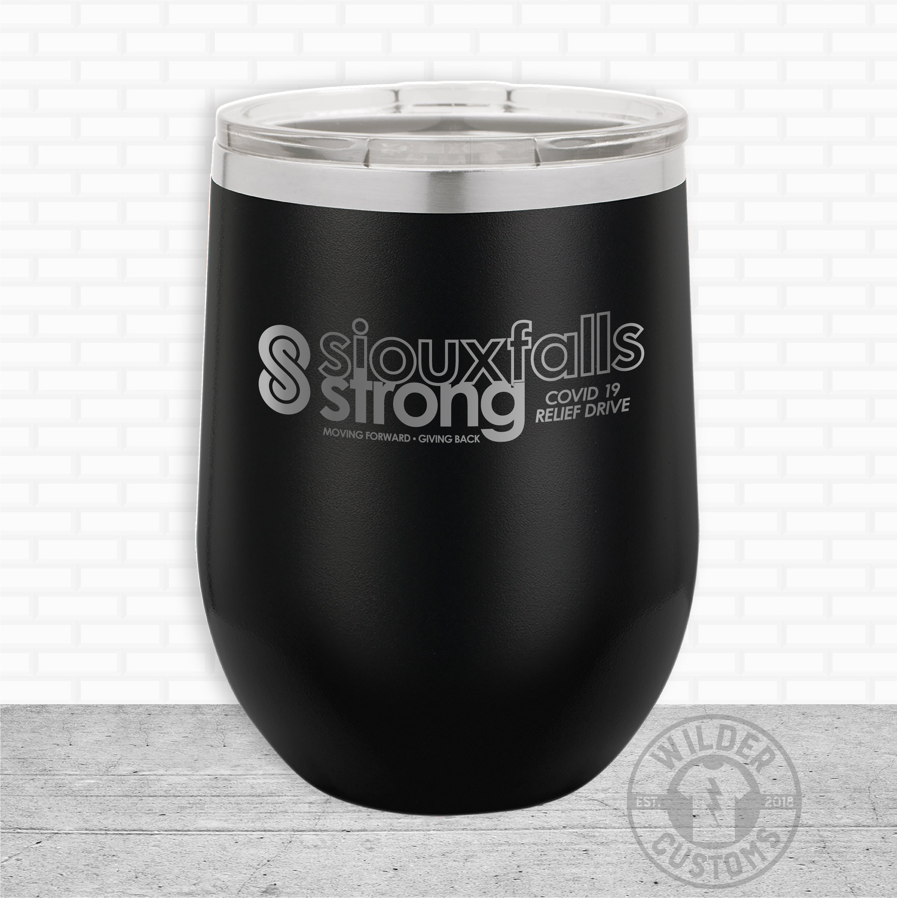 Sioux Falls Strong Wine Tumbler Black- Legacy Aviation
