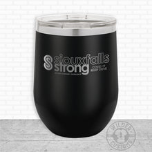 Load image into Gallery viewer, Sioux Falls Strong Wine Tumbler Black- Legacy Aviation