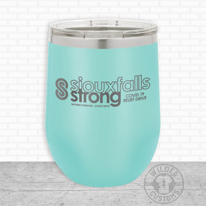 Sioux Falls Strong Wine Tumbler Teal- Tim Allex Realty