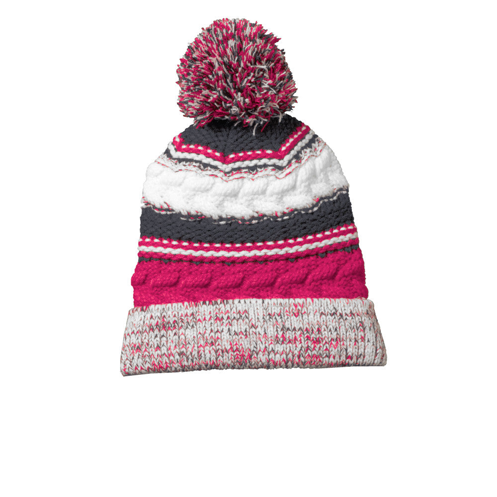 ST Striped Pom Beanie STC21