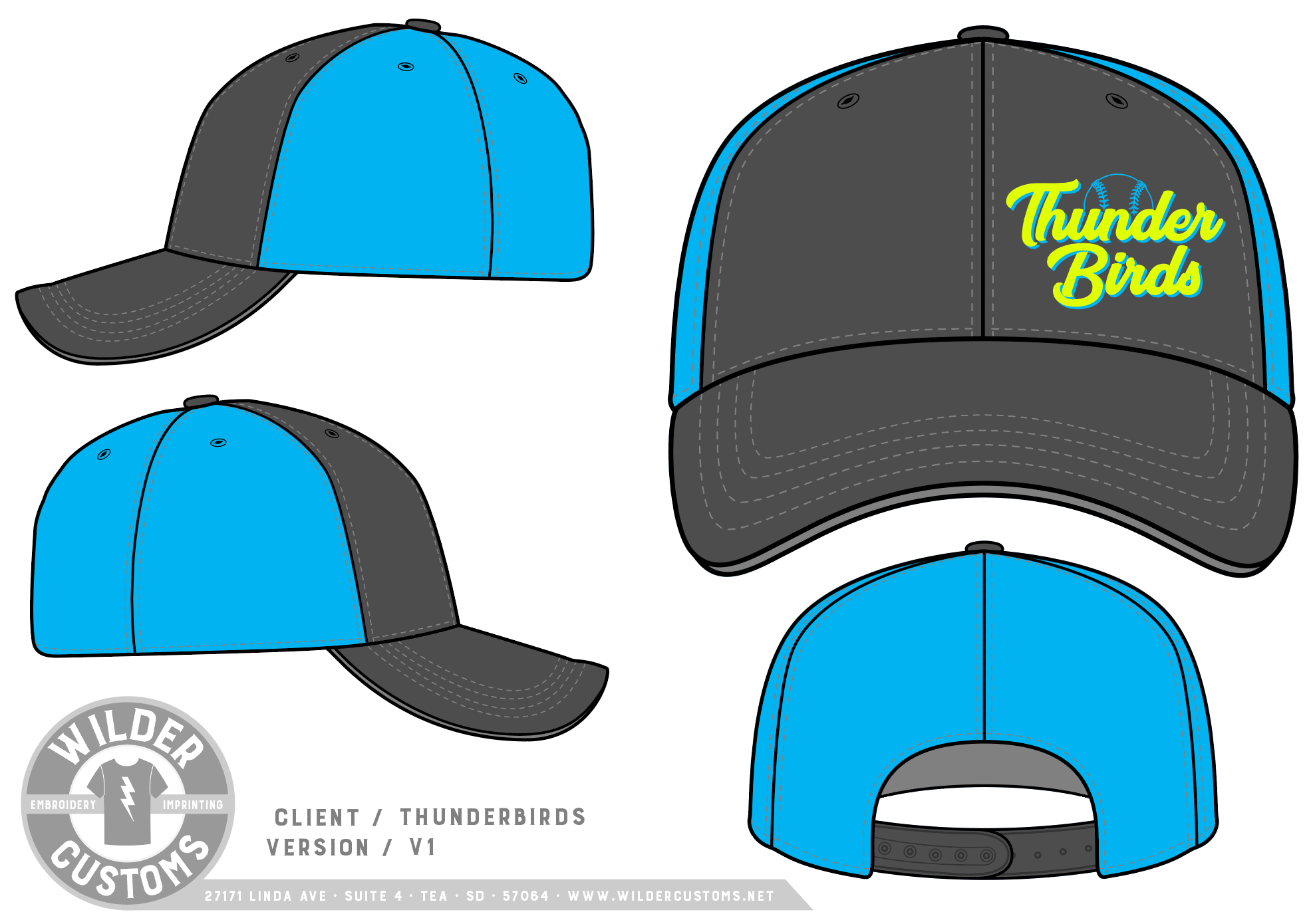 Tbirds Snapback Hat (Adult)