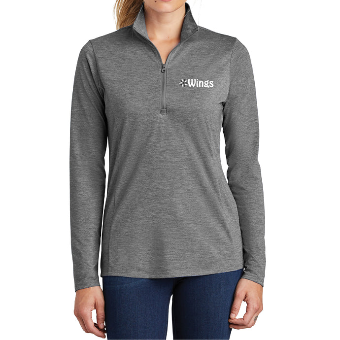 Ladies Triblend Quarter Zip WG1