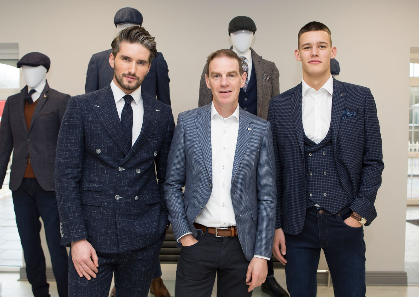 Benetti Menswear, Benetti, Charlie Clinch, Not Another Agency, Assets Model Agency, Benetti Suit, Showcase Event