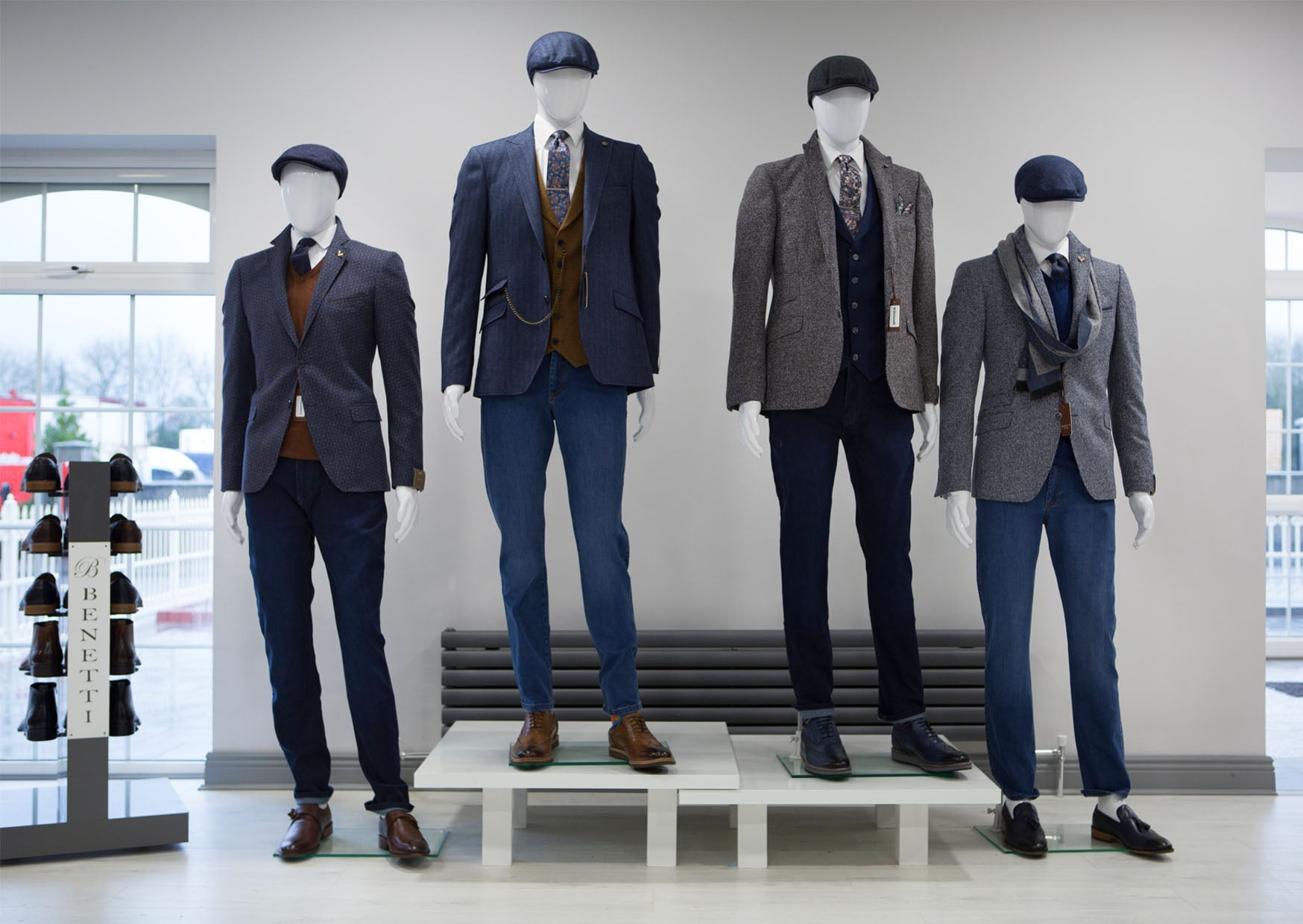 Benetti Menswear, Menswear Ireland, Benetti showroom, Official Launch, Ballymahon, Model, suits, shirt, ties, Benetti, Lifestyle