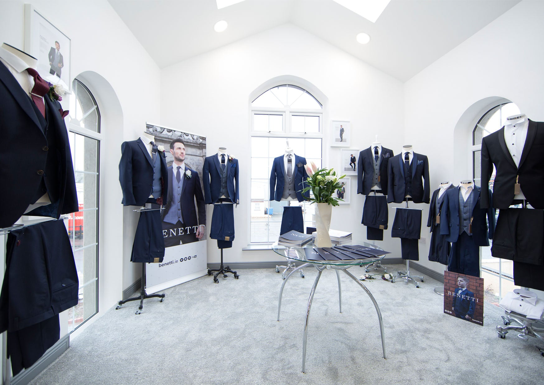 Benetti Menswear, benetti Menswear Ireland, Benetti, Menswear, Ireland, Suits, Showroom, Wedding Suits