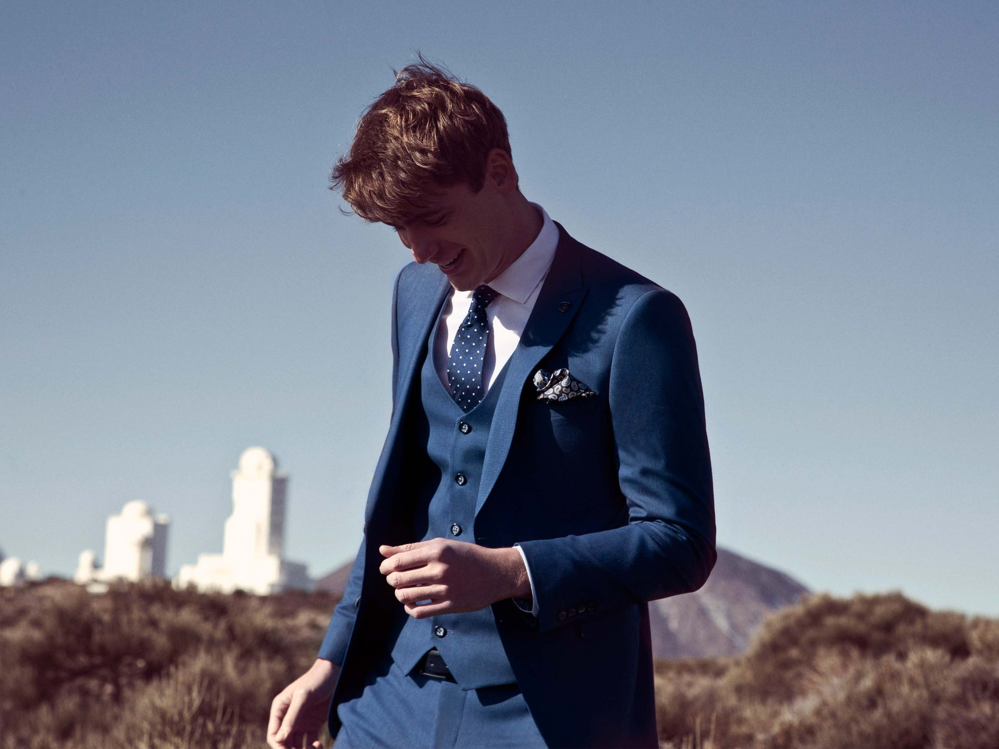 Petrol Navy Suit By Benetti Menswear
