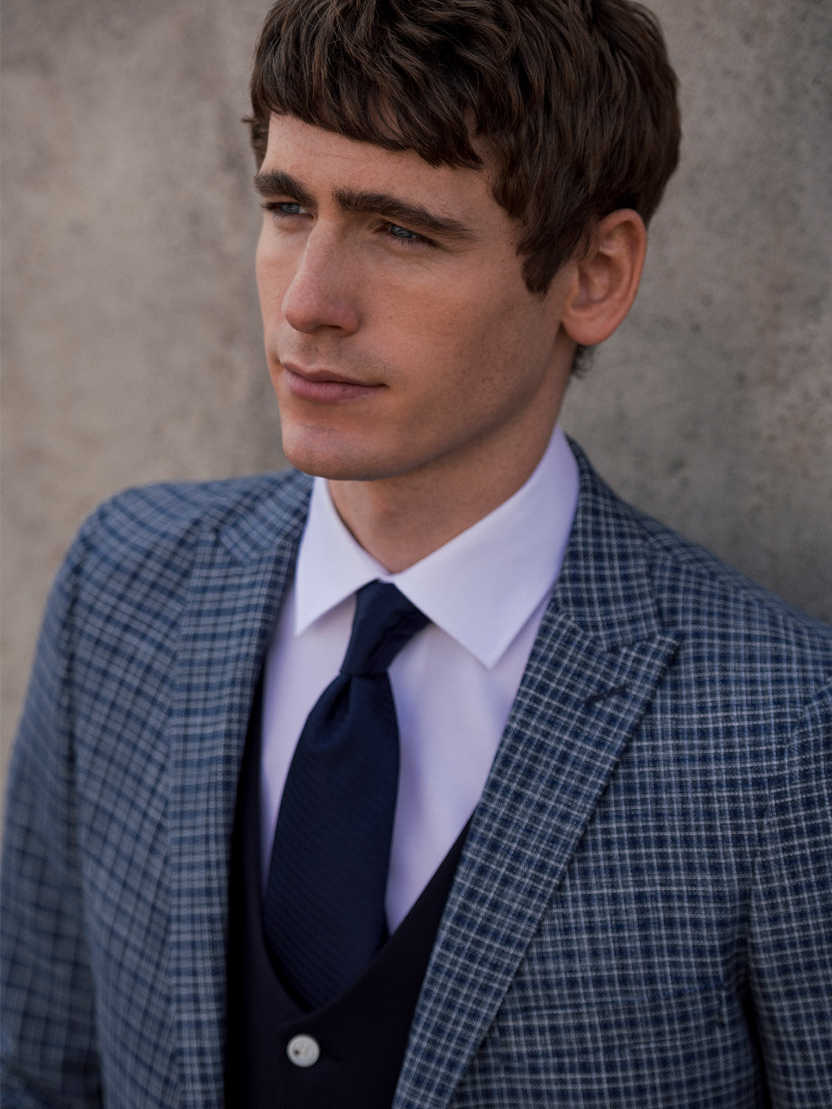 Darcy Blue Check 3 Piece Suit
