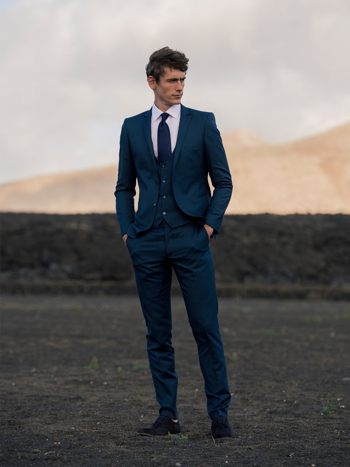 Teal 3 Piece Benetti Menswear Suit
