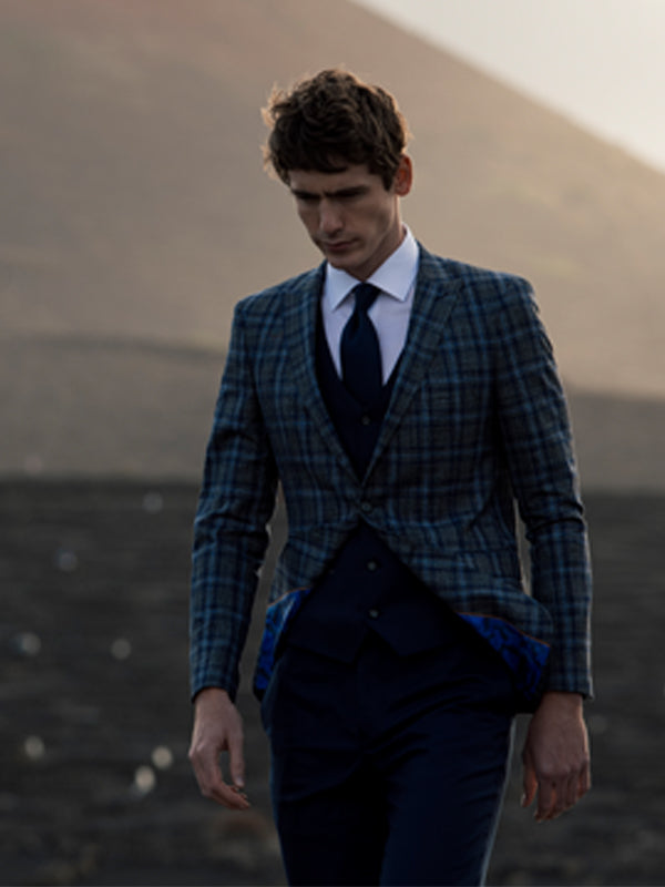 Errol Grey Check Blazer