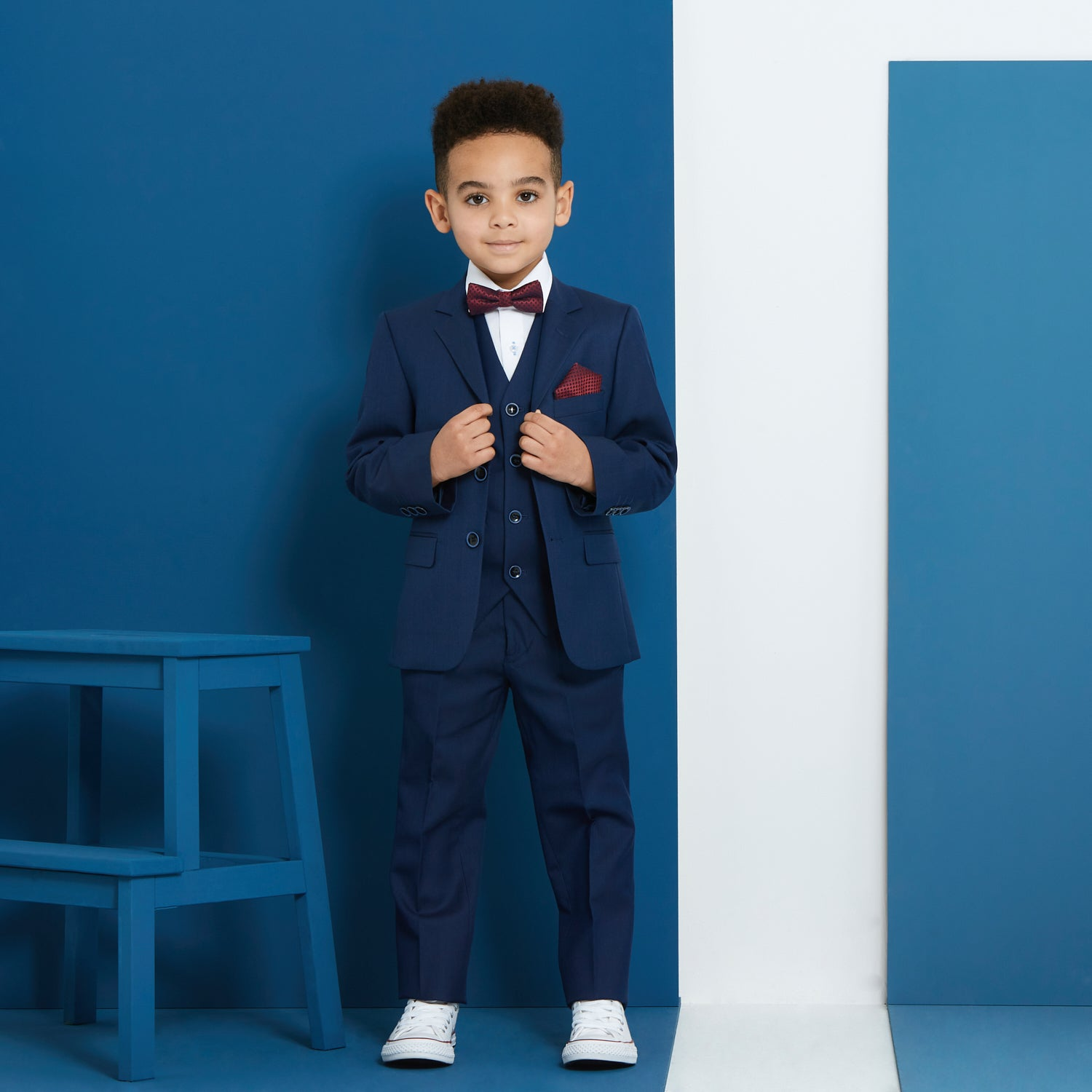 James Navy Boys Suit