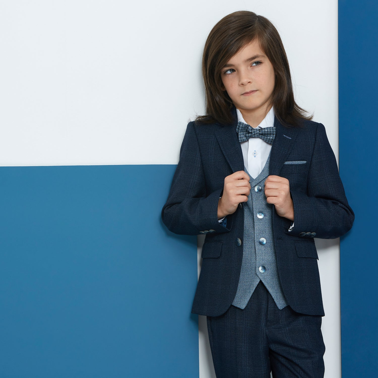 Joey Navy Blue Boys Suit