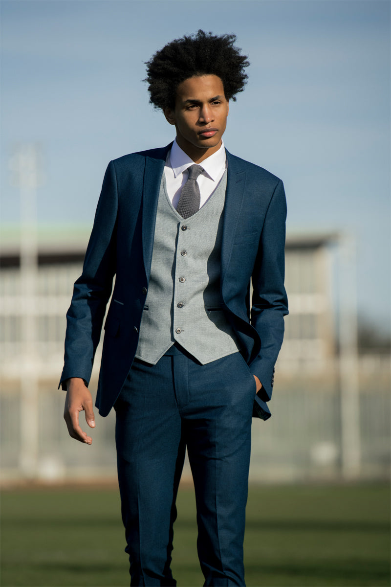 Lloyd Teal 3 Piece Suit By Benetti