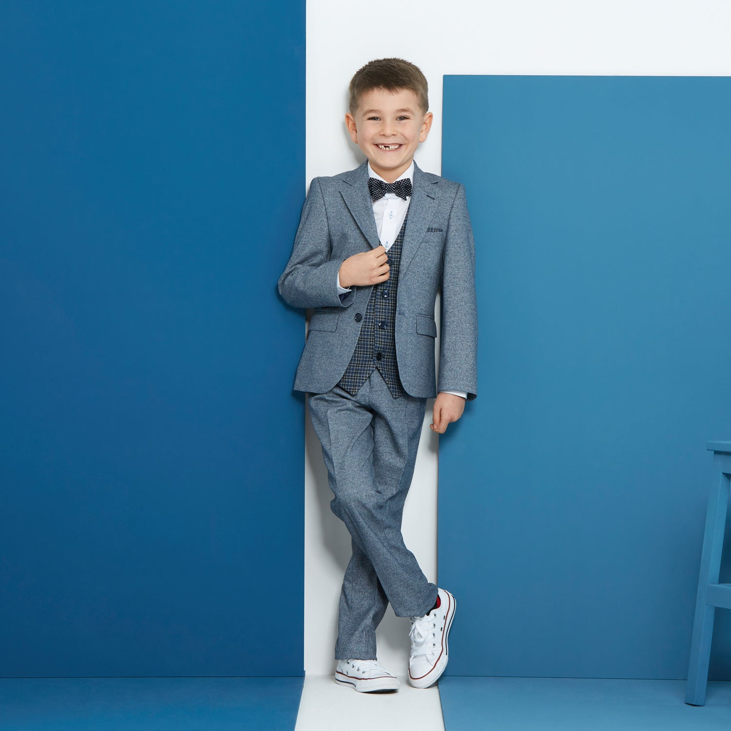 Pascal Smoke Blue Boys Suit