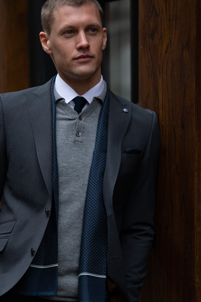 Grey 3 Piece Benetti Suit