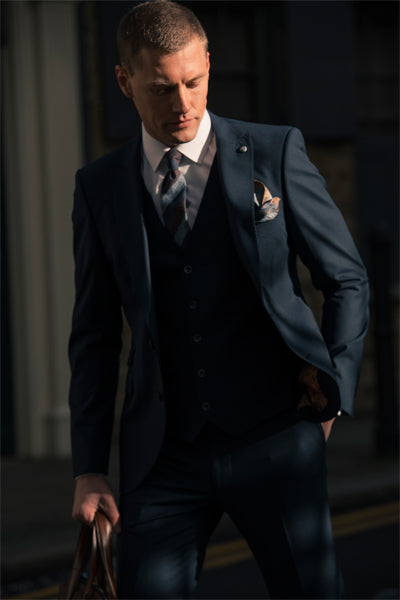 Navy 3 piece suit By Benetti