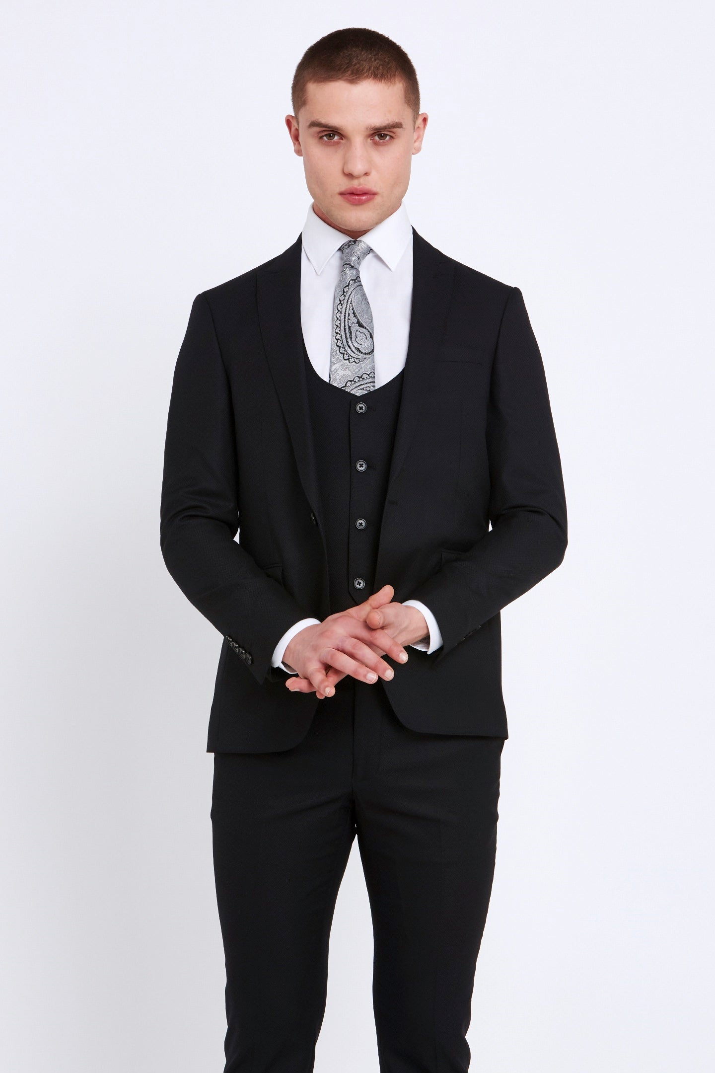 Black Travis 3 Piece Suit