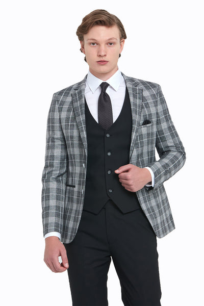 Kevin Black Check Benetti Jacket