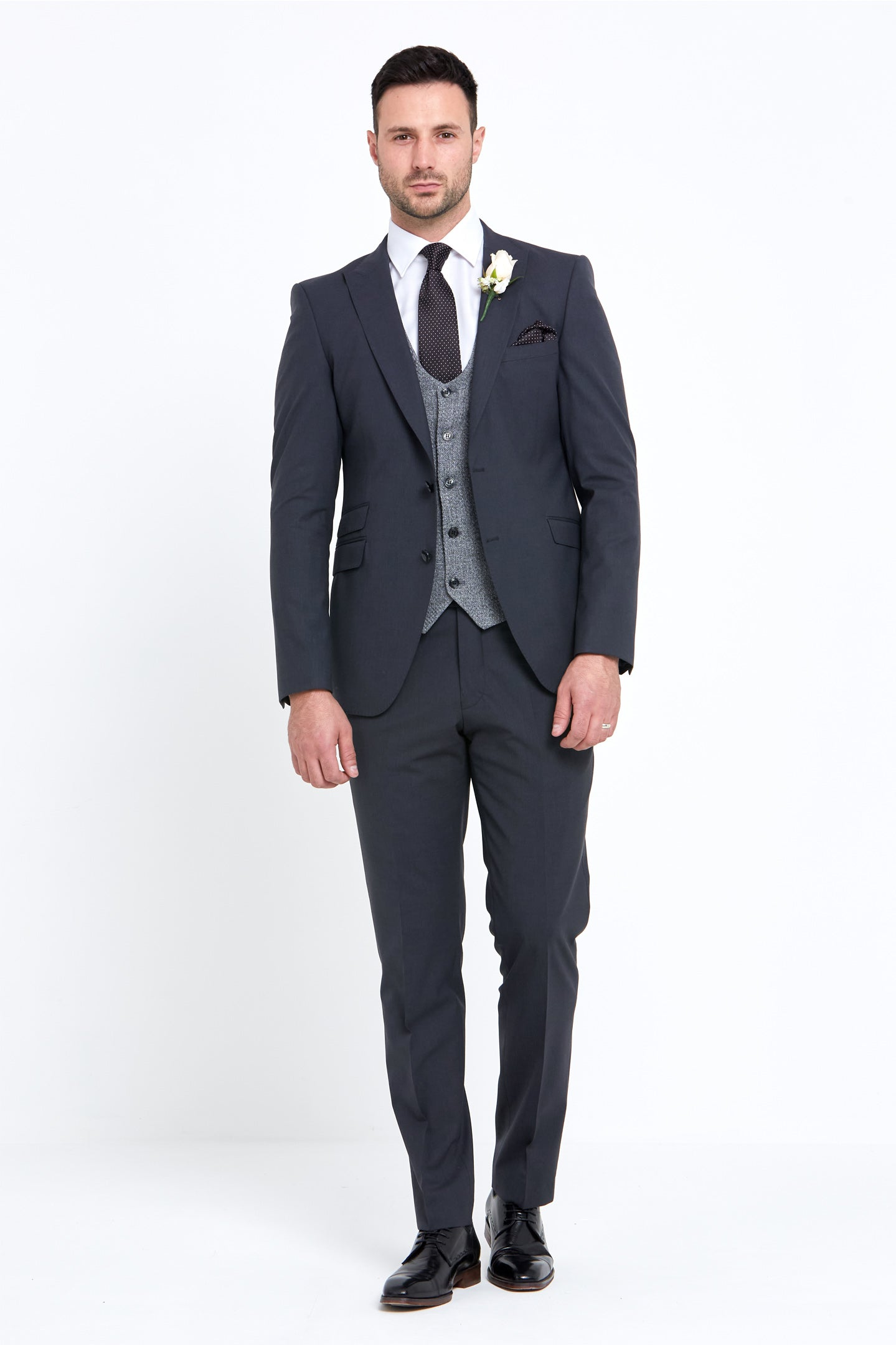 Benetti Grey Wedding Suit