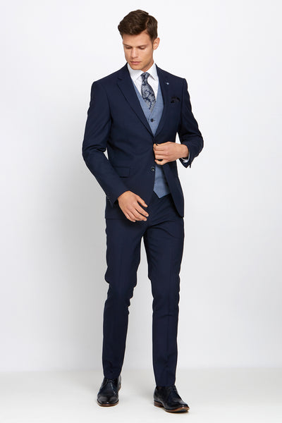 James Navy Suit and Bobby Waistcoat