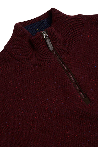 Benetti Half Zip Sweater Wine