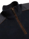 Chris Navy Half Zip Benetti Sweater