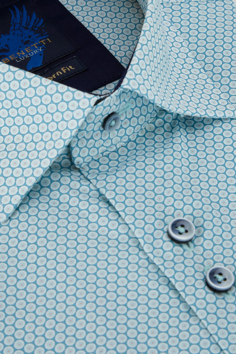Benetti_Menswear_Teal_Short_Sleeve