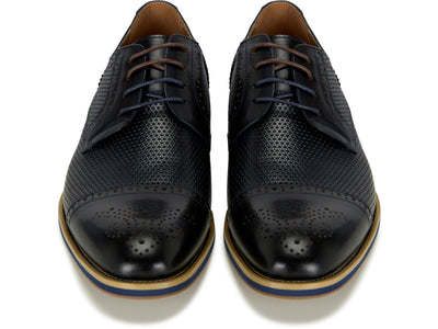 Navy Brogue Shoe
