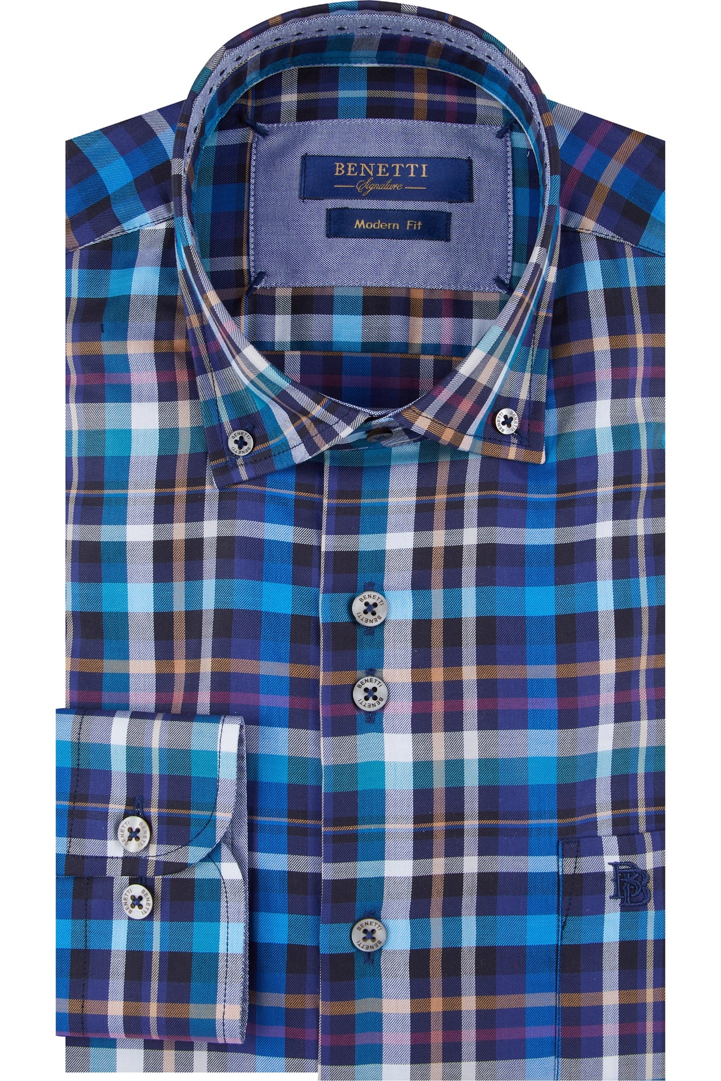Dallas Navy Check Shirt