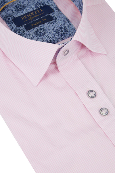 Benetti Pink Short Sleeve Shirt