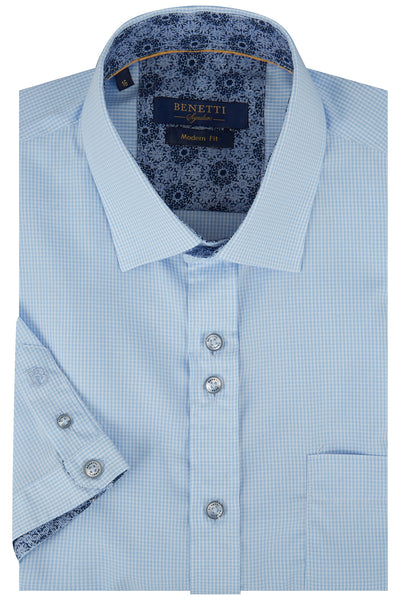 Benetti Short Sleeve Blue Shirt