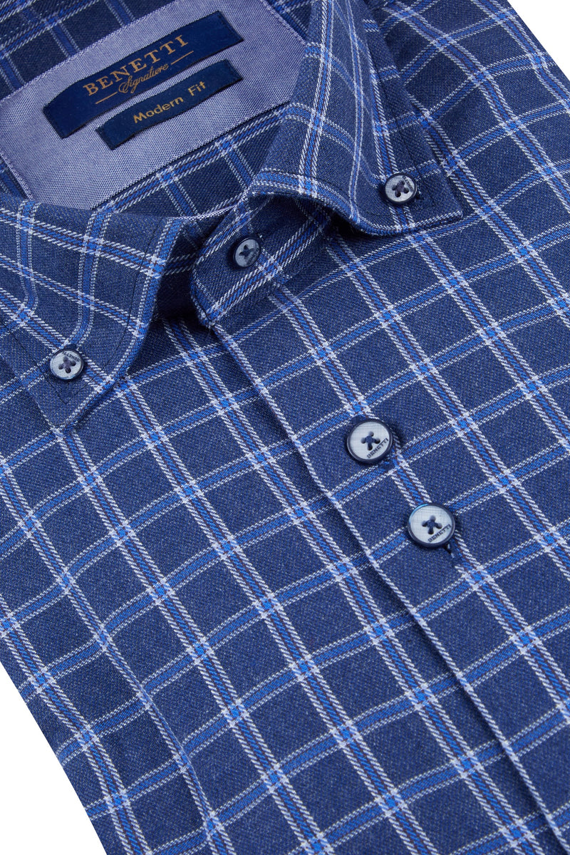 Dexter Navy Check Shirt
