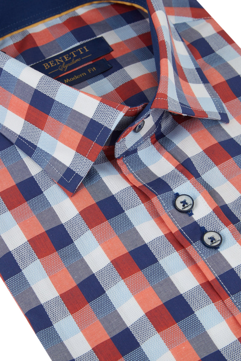 Benetti Drew Check Short Sleeve Shirt
