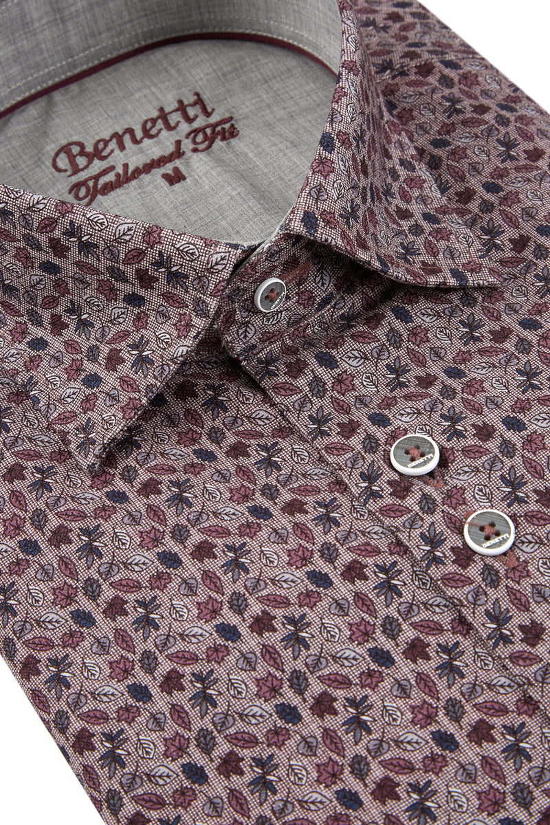 Fergus Casual Shirt | Wine