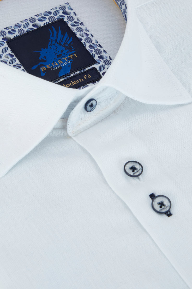 Benetti_White_Long_Sleeve_Shirt