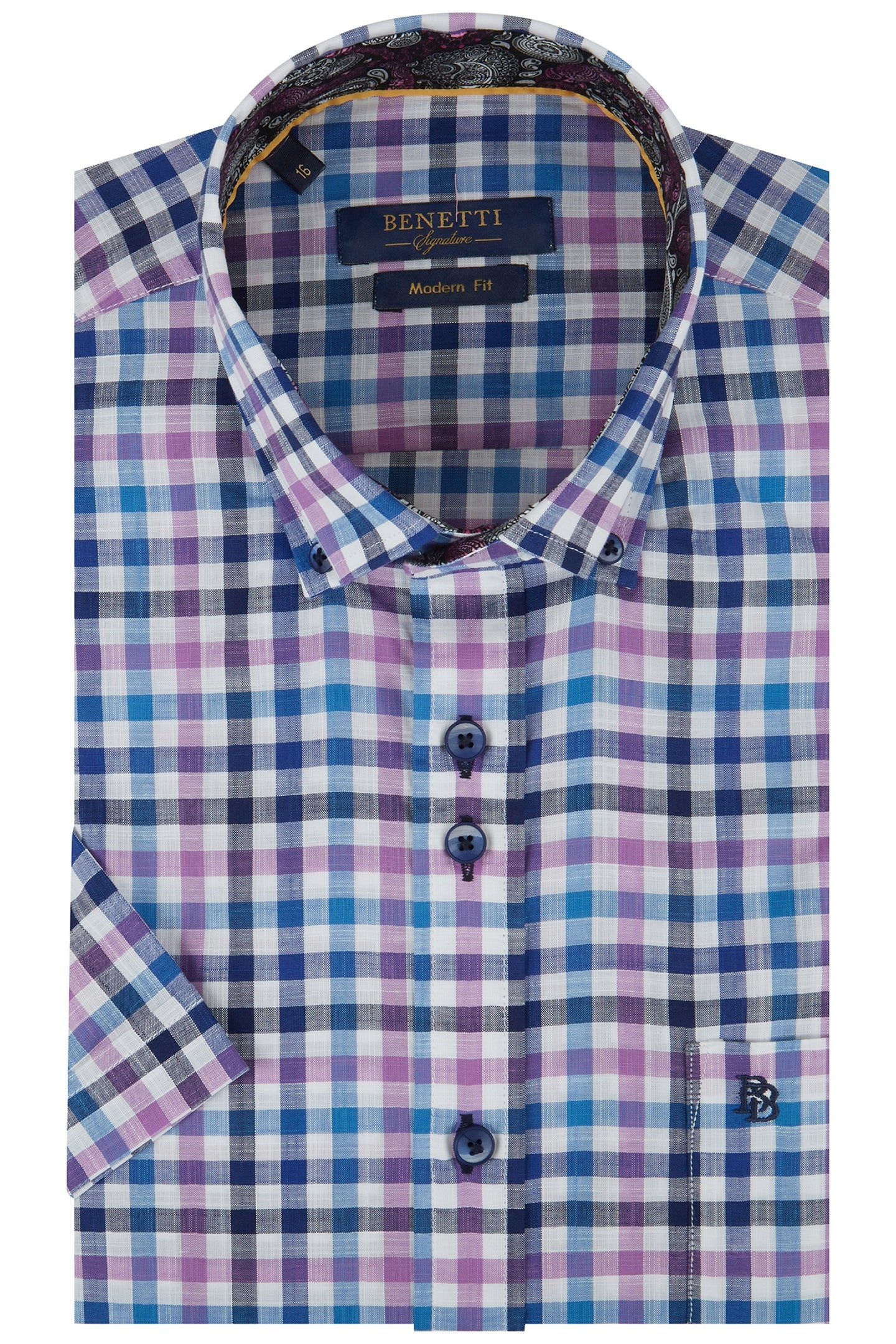 Benetti Gary Short Sleeve Check Shirt