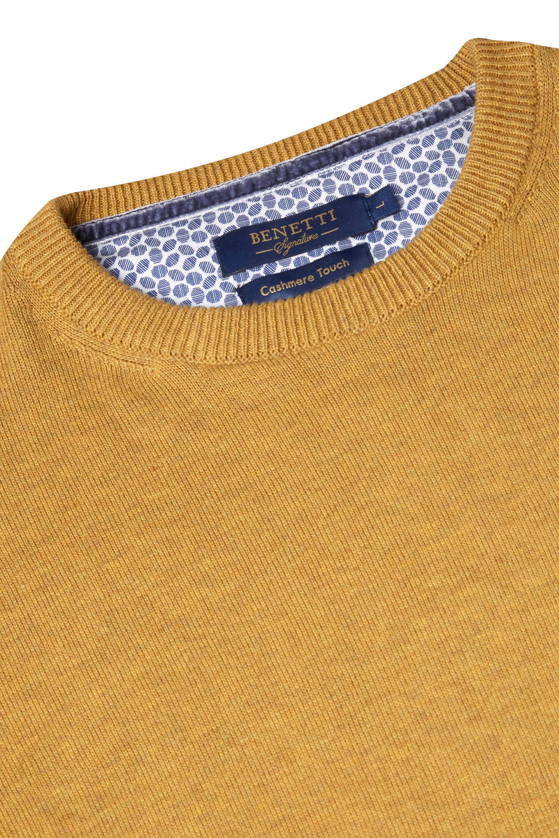 Benetti Crew Neck Gold