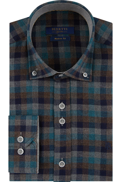 Grant Check Long Sleeve Shirt