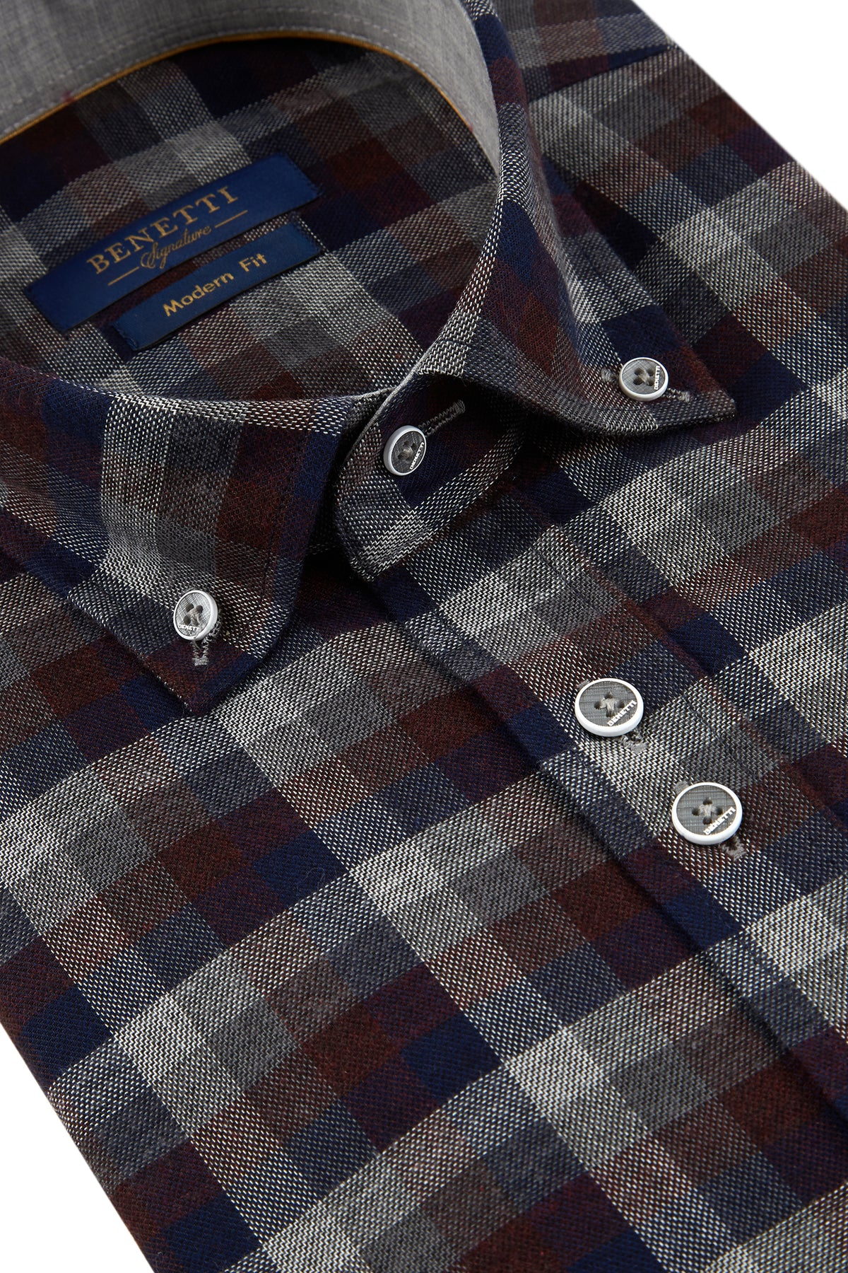 Grant Wine Check Shirt