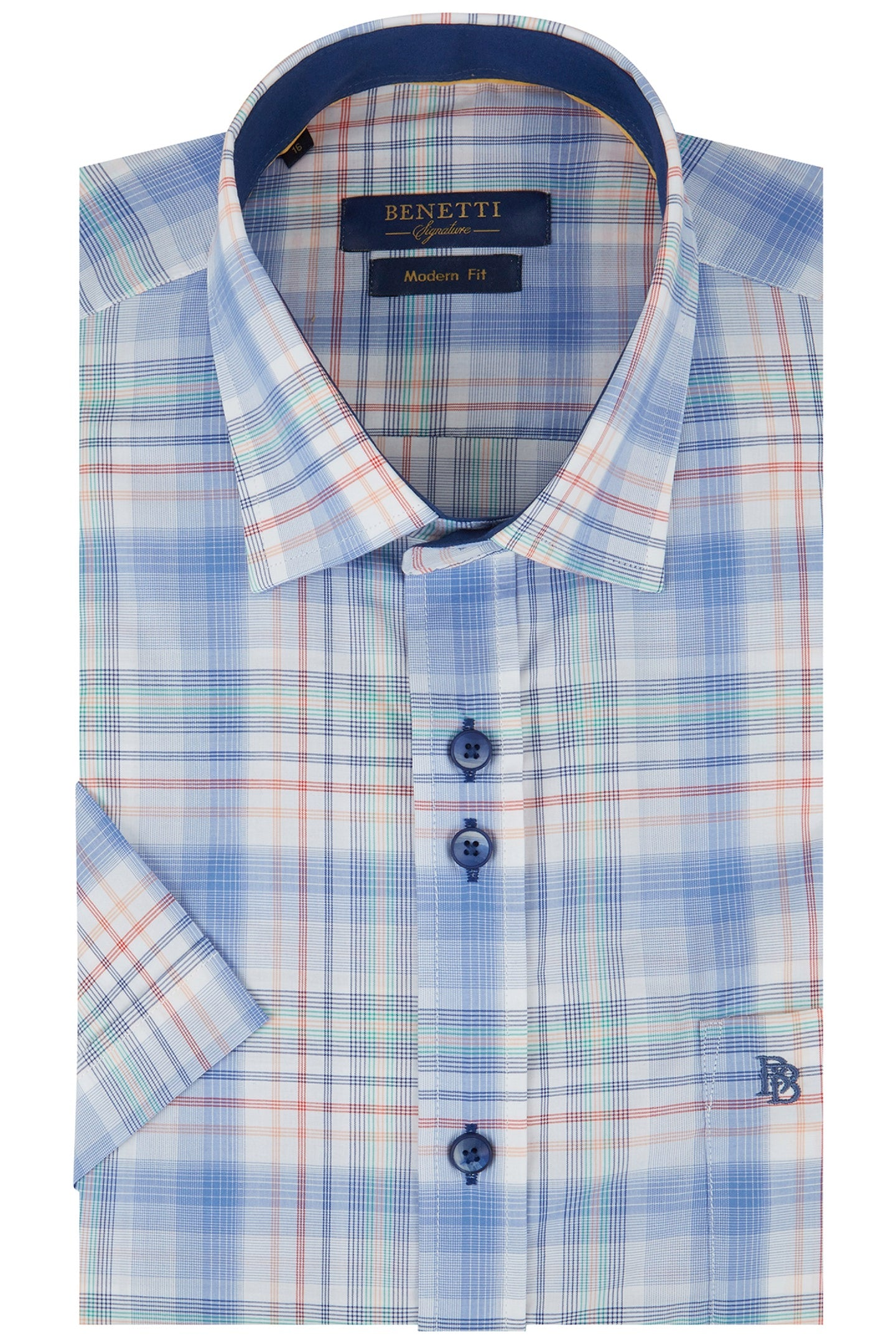 Hugo Check Short Sleeve Shirt
