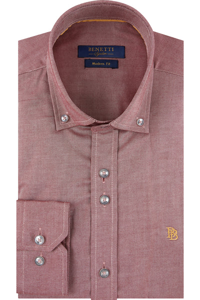 Jasper Red Plain Shirt