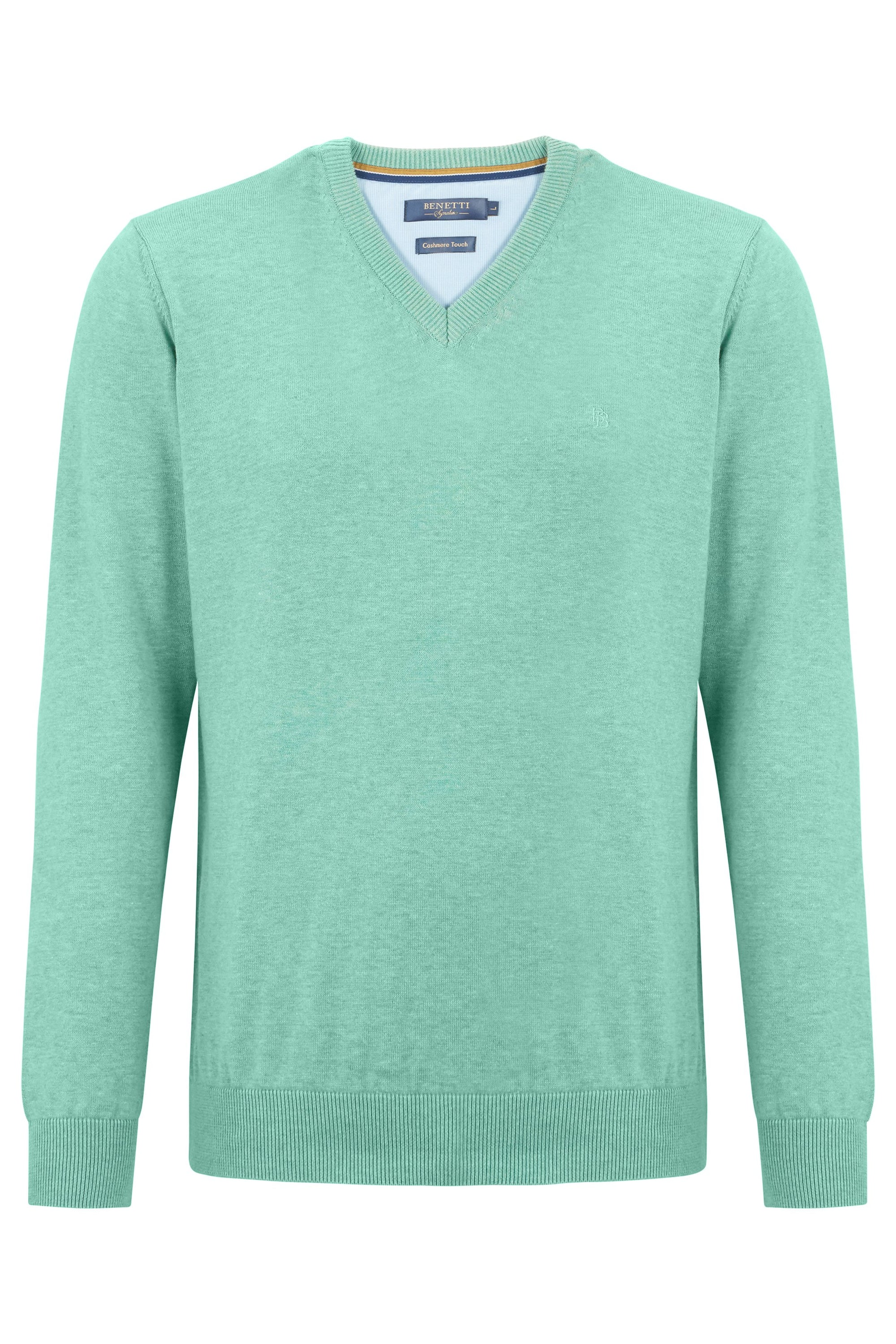 Mint V Neck Sweater