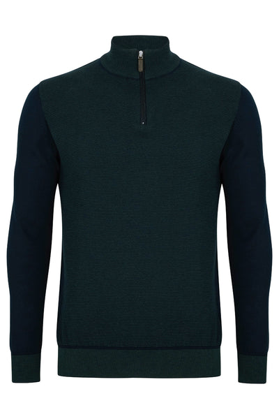 Benetti Quin Forest Half Zip Sweater