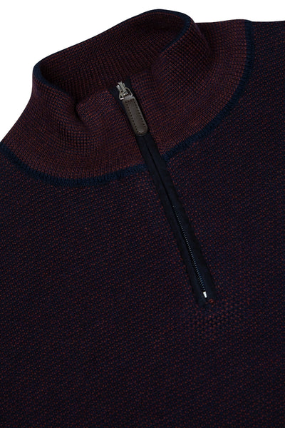 Benetti Quinn Wine Half Zip Sweater