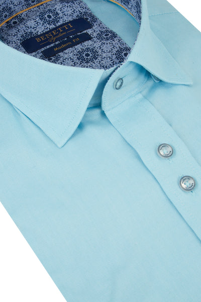 Benetti Rory Short Sleeve Teal Shirt