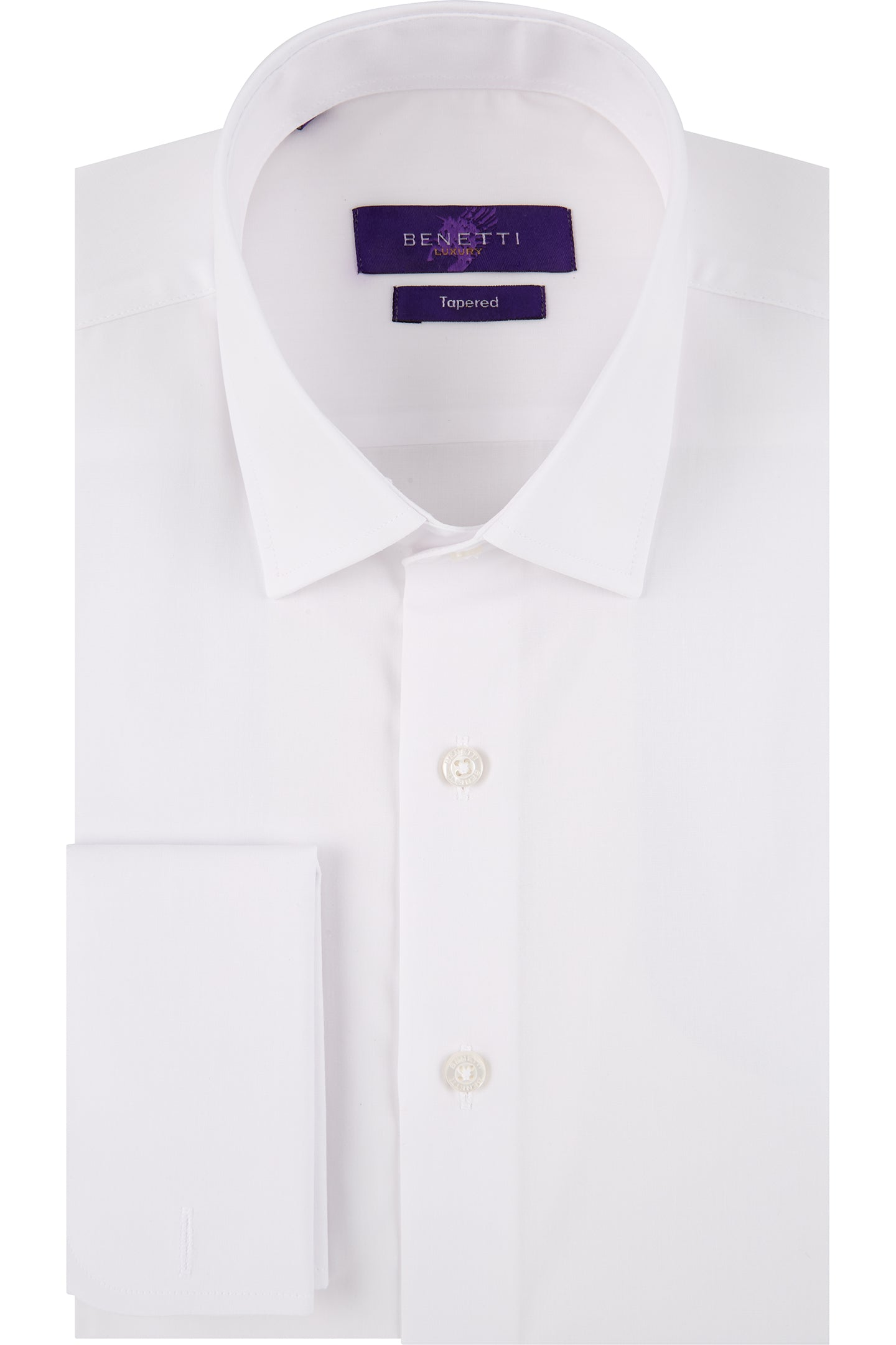 Benetti Double Cuff White Shirt